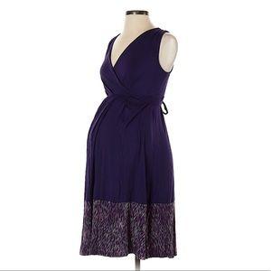 LIZ LANGE MATERNITY Faux Wrap Midi Dress